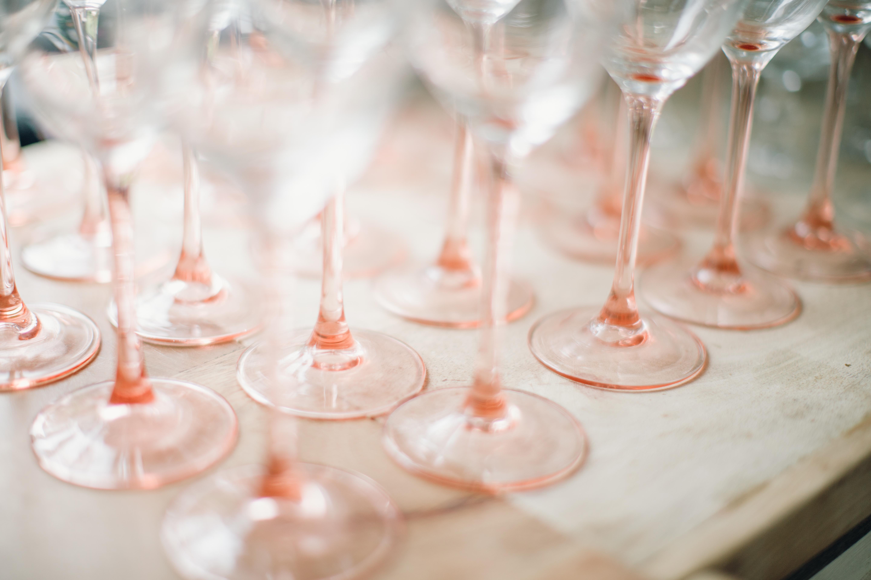 Hélène Millot - Pink Stem Wine Glass