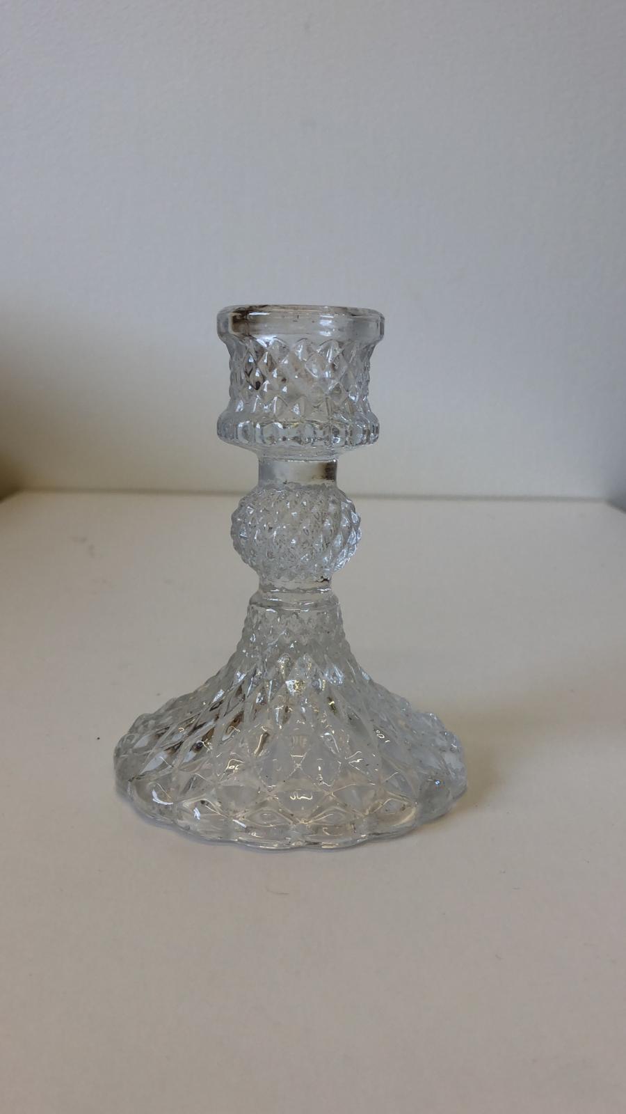 Hélène Millot - Matching Glass Candlesticks