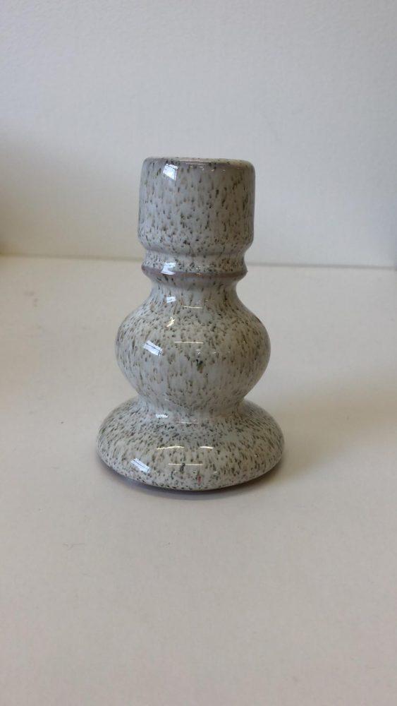 Hélène Millot - Ceramic Speckled Candlesticks