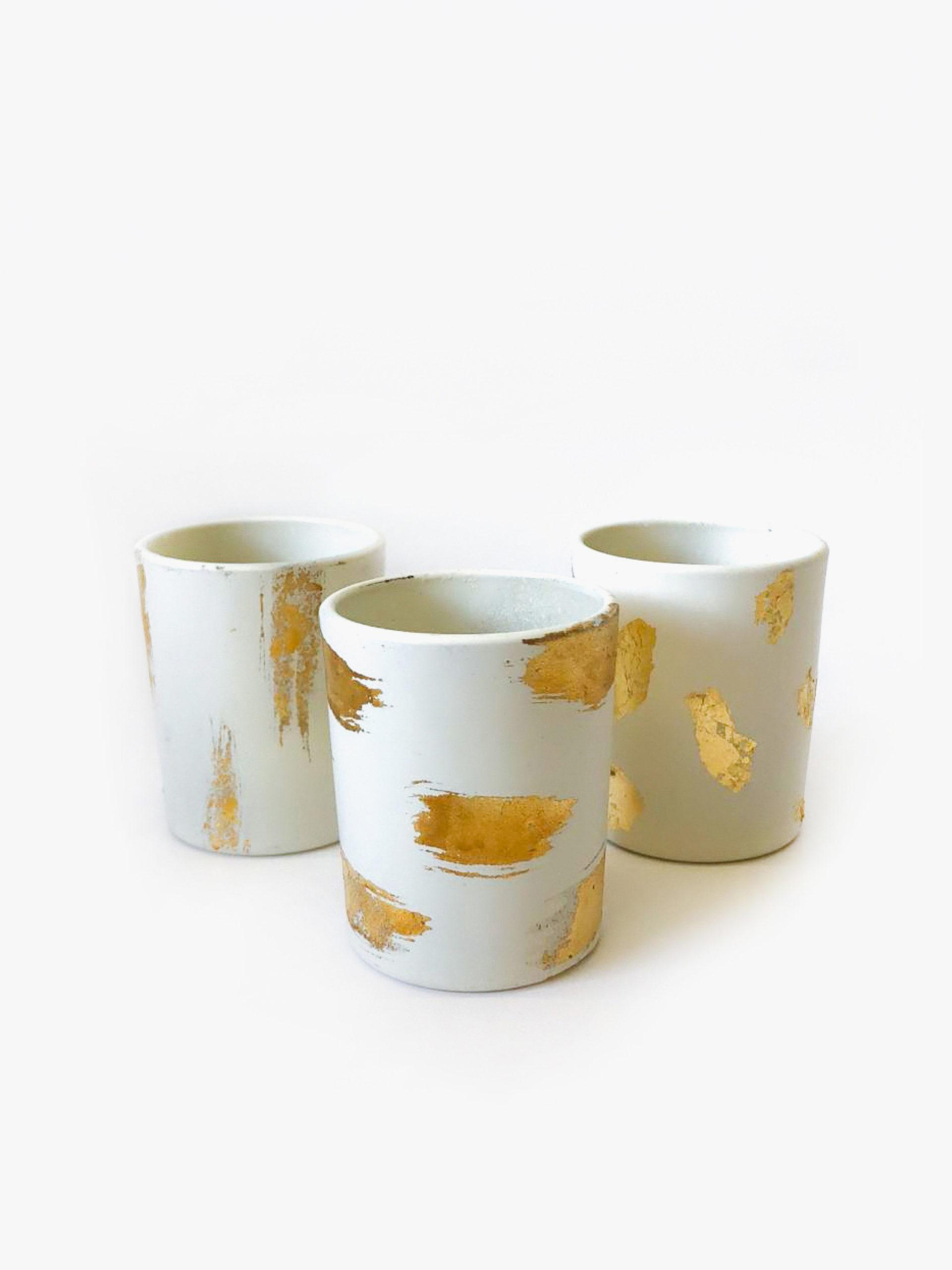 Hélène Millot - Gold & Grey Tea lights